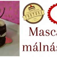 Mascarponés málnás brownie